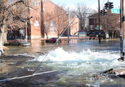 What happens when a water main breaks?