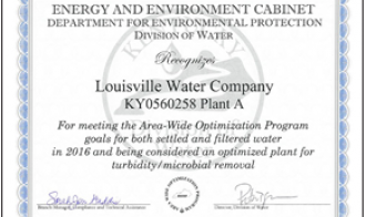 Treatment Plant Earns State Agency Award