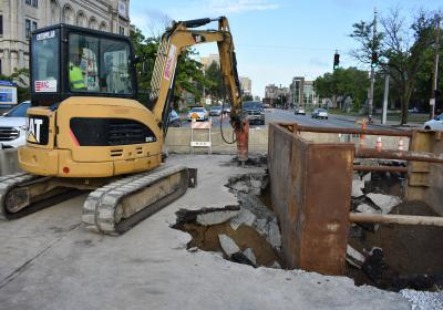 Louisville Water helps with Broadway sewer collapse