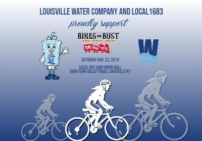 Louisville Water and Local 1683 team up for 'Bikes or Bust'