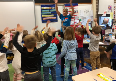'Clean Hands Up' at Field Elementary
