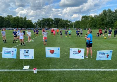 Louisville Water keeps kids hydrated at LouCity soccer camp